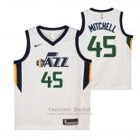 Camiseta Nino Utah Jazz Donovan Mitchell Association #45 2017-18 Negro