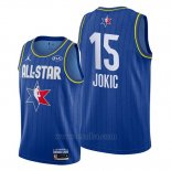Camiseta All Star 2020 Denver Nuggets Nikola Jokic #15 Azul