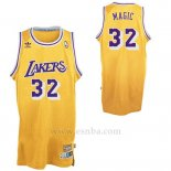 Camiseta Apodo Los Angeles Lakers Orlando Magic #32 Amarillo