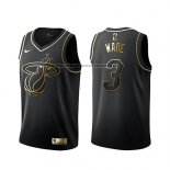 Camiseta Golden Edition Miami Heat Dwyane Wade Negro