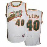 Camiseta Historic Seattle SuperSonics Shawn Kemp #40 Blanco