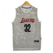 Camiseta Luces De La Ciudad Los Angeles Lakers Magic Johnson #32 Gris