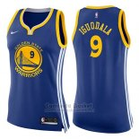 Camiseta Mujer Golden State Warriors Andre Iguodala Icon #9 2017-18 Azul