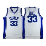 Camiseta NCAA Duke Blue Devils Grant Hill #33 Blanco