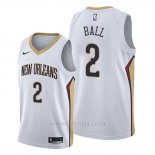 Camiseta New Orleans Pelicans Lonzo Ball #2 Association Blanco