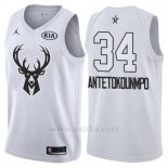 Camiseta All Star 2018 Milwaukee Bucks Giannis Antetokounmpo #34 Blanco