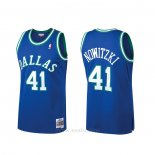 Camiseta Dallas Mavericks Dirk Nowitzki #41 Mitchell & Ness Hardwood Classics Azul