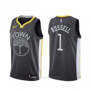 Camiseta Golden State Warriors D'angelo Russell #1 Ciudad Negro