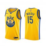 Camiseta Golden State Warriors Mychal Mulder #15 Statement Amarillo