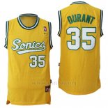 Camiseta Historic Seattle SuperSonics Kevin Durant #35 Amarillo