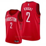 Camiseta Houston Rockets Brandon Knight #2 Earned Rojo