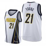 Camiseta Indiana Pacers Thaddeus Young #21 Earned Edition Blanco