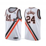 Camiseta Los Angeles Clippers Paul George #24 Classic Edition Blanco
