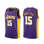 Camiseta Los Angeles Lakers Metta World Peace #15 Statement Violeta