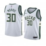 Camiseta Milwaukee Bucks Jaylen Morris #30 Association 2018 Blanco