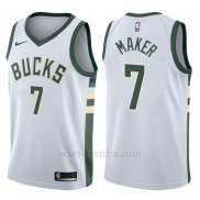 Camiseta Milwaukee Bucks Thon Maker #7 Swingman Association 2017-18 Blanco