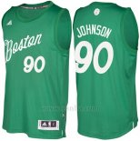 Camiseta Navidad 2016 Boston Celtics Amir Johnson #90 Veder