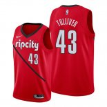 Camiseta Portland Trail Blazers Anthony Tolliver #43 Earned Rojo