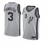 Camiseta San Antonio Spurs Quincy Pondexter #3 Statement 2018 Gris