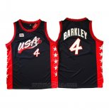 Camiseta USA 1996 Charles Barkley #4 Negro