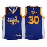 Camiseta Campeon Final Golden State Warriors Stephen Curry #30 2017 Azul