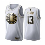 Camiseta Golden Edition Los Angeles Clippers Paul George #13 Blanco