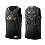 Camiseta Golden Edition Los Angeles Lakers Kobe Bryant Negro