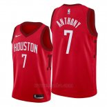 Camiseta Houston Rockets Carmelo Anthony #7 Earned Edition Rojo