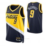 Camiseta Indiana Pacers T.j. Mcconnell #12 Ciudad Gris