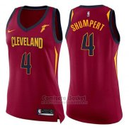 Camiseta Mujer Cleveland Cavaliers Iman Shumpert Icon #4 2017-18 Rojo