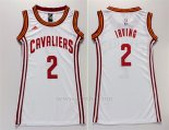 Camiseta Mujer Cleveland Cavaliers Kyrie Irving #2 Blanco