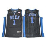 Camiseta NCAA Duke Blue Devils Kyrie Irving #1 Negro