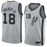 Camiseta San Antonio Spurs Lonnie Walker Iv #18 Statement 2018 Gris