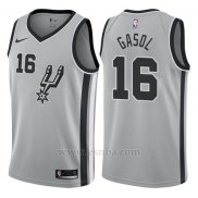 Camiseta San Antonio Spurs Pau Gasol #16 Statement 2017-18 Gris