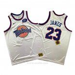 Camiseta Tune Squad Lebron James #23 Blanco