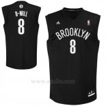 Camiseta Apodo Brooklyn Nets D-Will #8 Negro
