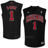 Camiseta Apodo Chicago Bulls D-Rose #1 Negro