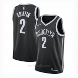 Camiseta Brooklyn Nets Blake Griffin #2 Icon 2020-21 Negro