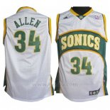 Camiseta Historic Seattle SuperSonics Ray Allen #34 Blanco