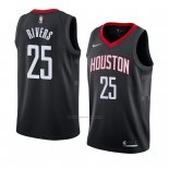 Camiseta Houston Rockets Austin Rivers #25 Statement 2018 Negro