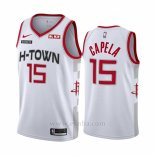 Camiseta Houston Rockets Clint Capela #15 Ciudad Edition Blanco