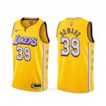 Camiseta Los Angeles Lakers Dwight Howard #39 Ciudad 2019-20 Amarillo