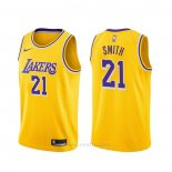 Camiseta Los Angeles Lakers J.r. Smith #21 Icon 2020 Amarillo