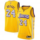 Camiseta Los Angeles Lakers Kobe Bryant #24 Ciudad 2019-20 Amarillo