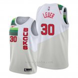 Camiseta Milwaukee Bucks Jon Leuer #30 Earned Blanco
