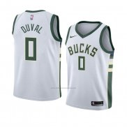 Camiseta Milwaukee Bucks Trevon Duval #0 Association 2018 Blanco