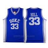 Camiseta NCAA Duke Blue Devils Grant Hill #33 Azul