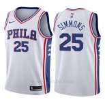 Camiseta Nino Philadelphia 76ers Ben Simmons #25 Association 2017-18 Blanco