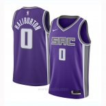 Camiseta Sacramento Kings Tyrese Haliburton #0 Icon 2020-21 Negro