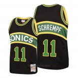 Camiseta Seattle SuperSonics Detlef Schrempf #11 Mitchell & Ness 1994-95 Negro